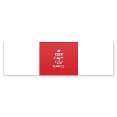 Keep Calm Play Game Sticker (Bumper 50 pk)
