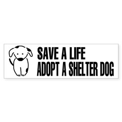 Adopt A Dog Sticker (Bumper 50 pk)