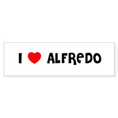 I LOVE ALFREDO Sticker (Bumper 50 pk)