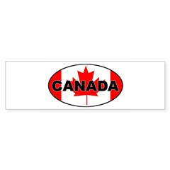 Canadian Flag Oval Sticker (Bumper 50 pk)