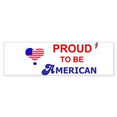 PROUD TO BE AMERICAN Sticker (Bumper 50 pk)