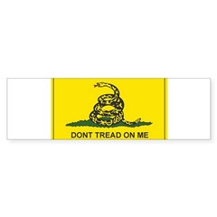 Gadsden Flag Rectangle Sticker (Bumper 50 pk)