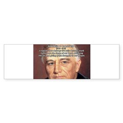 American President FDR Rectangle Sticker (Bumper 50 pk)