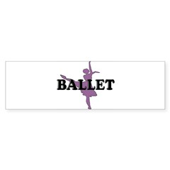 Female Ballet Silhouette Rectangle Sticker (Bumper 50 pk)