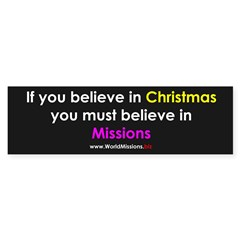 Christmas & Mission Sticker (Bumper 50 pk)