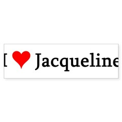 I Love Jacqueline Sticker (Bumper 50 pk)