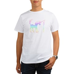 Rainbow Gestural Unicorn Organic Men's T-Shirt