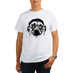 Pug Revolutionary Icon- Ash Grey Organic Men's T-Shirt