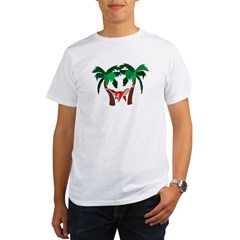 Macaw in Palms Organic Men's T-Shirt