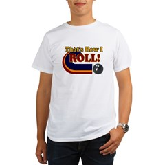THATS HOW I ROLL BOWLING RETR Ash Grey Organic Men's T-Shirt