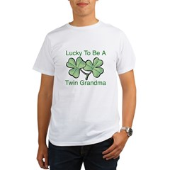 Lucky To Be A Twin Grandma Organic Men's T-Shirt