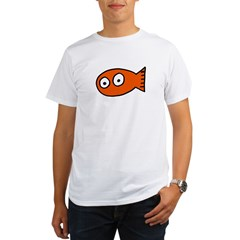 Tickles Goldfish Ash Grey Organic Men's T-Shirt