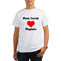 Most Loved Nephew Ash Grey Organic Men's T-Shirt