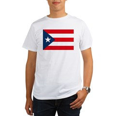 Puerto Rican Flag Ash Grey Organic Men's T-Shirt