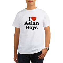 I Love Asian Boys Organic Men's T-Shirt