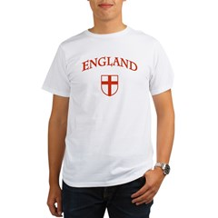 England Ash Grey Organic Men's T-Shirt