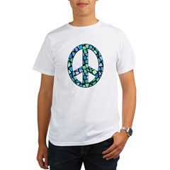 Mosaic Peace, blue Organic Men's T-Shirt