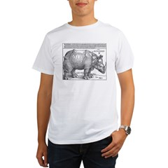 Durer Rhino Ash Grey Organic Men's T-Shirt