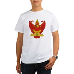 Thailand Emblem Ash Grey Organic Men's T-Shirt