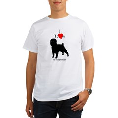 Affenpinscher Ash Grey Organic Men's T-Shirt