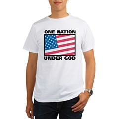 One Nation Ash Grey Organic Men's T-Shirt