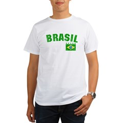 BRAZIL-BLACK-worn Organic Men's T-Shirt