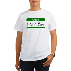 Hello, my name is Lazy Bum Ash Grey Organic Men's T-Shirt