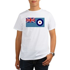 UK's RAF Flag Shoppe Ash Grey Organic Men's T-Shirt