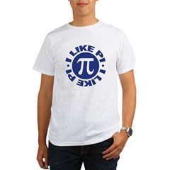 I Like Pi Organic Men's T-Shirt