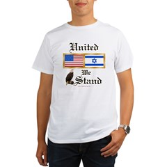 US & Israel United Ash Grey Organic Men's T-Shirt