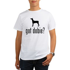 Doberman Pinscher Ash Grey Organic Men's T-Shirt