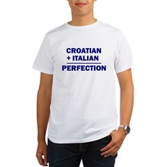 Italian + Croatian Organic Men's T-Shirt