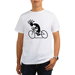 Kokopelli Road Cyclist Ash Grey Organic Men's T-Shirt