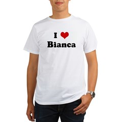 I Love Bianca Ash Grey Organic Men's T-Shirt
