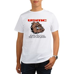 USMC Brown Bulldog Organic Men's T-Shirt