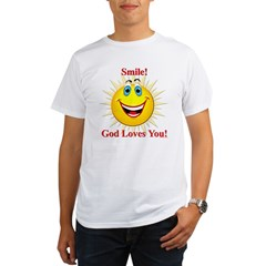 Smile! God Loves You! Organic Men's T-Shirt