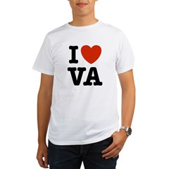 I Love VA Virginia Ash Grey Organic Men's T-Shirt