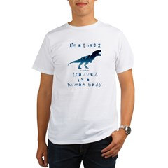 I'm a T-Rex Ash Grey Organic Men's T-Shirt