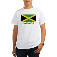 Flag of Jamaica Ash Grey Organic Men's T-Shirt