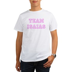 Pink team Isaias Ash Grey Organic Men's T-Shirt