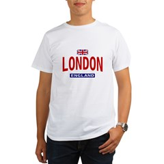 London England Ash Grey Organic Men's T-Shirt