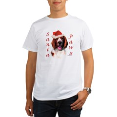 Santa Paws Welsh Springer Organic Men's T-Shirt