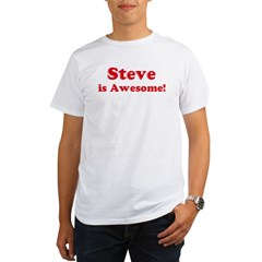 Steve is Awesome Ash Grey Organic Men's T-Shirt