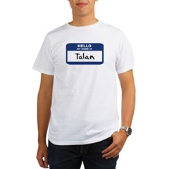 Hello: Talan Ash Grey Organic Men's T-Shirt