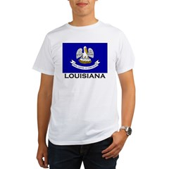 Louisiana Flag Stuff Organic Men's T-Shirt
