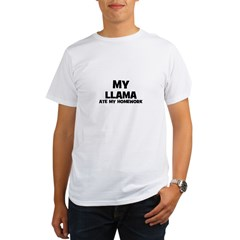 My Llama Ate My Homework Organic Men's T-Shirt