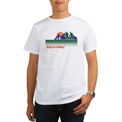Keep on Hiking Ash Grey Organic Men's T-Shirt