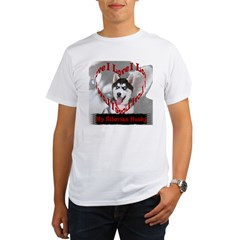 I Love My Siberian Husky Organic Men's T-Shirt