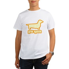Low Rider Dachshund Organic Men's T-Shirt