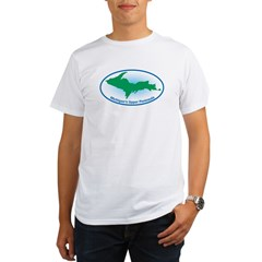 Upper Peninsula Oval Organic Men's T-Shirt